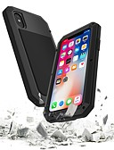 baratos Capinhas para iPhone-Capinha Para Apple iPhone XS / iPhone XR / iPhone XS Max Impermeável / Antichoque Capa Proteção Completa Armadura Rígida Metal