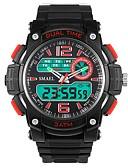 رخيصةأون ساعات رقمية-رجالي ساعة رياضية ساعة رقمية رقمي أسود مقاوم للماء رزنامه الكرونوغراف تناظري-رقمي كاجوال موضة - أصفر أحمر أخضر / قضية