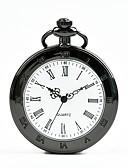 ราคาถูก นาฬิกาพก-สำหรับผู้ชาย สำหรับผู้หญิง นาฬิกาแบบพกพา นาฬิกาอิเล็กทรอนิกส์ (Quartz) ดำ นาฬิกาใส่ลำลอง เท่ห์ ระบบอนาล็อก ไม่เป็นทางการ แฟชั่น - สีดำ