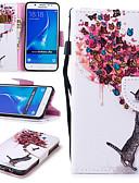 povoljno Maske za mobitele-Θήκη Za Samsung Galaxy J5 (2016) Novčanik / Utor za kartice / Otporno na trešnju Korice Mačka / Rukav leptir Tvrdo PU koža