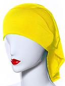 ราคาถูก ผ้าคลุมไหล่-สำหรับผู้หญิง สีพื้น ตารางไขว้, พื้นฐาน - Hijab