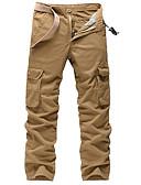 povoljno Kratke hlače-Muškarci Osnovni / Vojni Veći konfekcijski brojevi Dnevno Chinos / Cargo hlače Hlače - Jednobojni Sive boje Vojska Green Žutomrk 34 36 38
