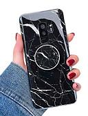 זול מגנים לטלפון-מגן עבור Samsung Galaxy S9 / S9 Plus / S8 Plus עם מעמד / IMD כיסוי אחורי שיש רך TPU