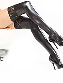 povoljno Zentai odijela-Zentai odijela čarape Catsuit Ninja Odrasli Lateks Cosplay Nošnje Stockings Halloween Žene Obala / Crn / Red Čipka Halloween Karneval Maškare / Odijelo za kožu / Odijelo za kožu