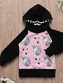 お買い得  赤ちゃん フーディーズ&スウェットシャツ-赤ちゃん 女の子 ストリートファッション 日常 プリント 長袖 フーディーズ&スウェットシャツ ブラック / 幼児