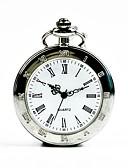 ราคาถูก นาฬิกาพก-สำหรับผู้ชาย นาฬิกาแบบพกพา นาฬิกาอิเล็กทรอนิกส์ (Quartz) เงิน นาฬิกาใส่ลำลอง เท่ห์ ระบบอนาล็อก ไม่เป็นทางการ แฟชั่น - สีเงิน