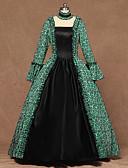 povoljno Stare svjetske nošnje-Queen kraljica Elizabeth Vintage Rococo Viktoriánus 18. stoljeće Haljine Žene Kostim Zelen Vintage Cosplay Party Stage Dugih rukava Do poda Krinolina Veći konfekcijski brojevi