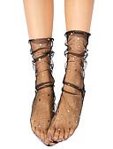 ราคาถูก ถุงเท้าและชุดชั้นใน-สำหรับผู้หญิง ถุงเท้า - สีพื้น บาง ขาว สีดำ สีเทา ขนาดเดียว