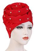 billige Hatter til damer-Dame Vintage Fest Ferie Solhatt Ensfarget Bomull Polyester Alle årstider Lysegrønn Fuksia Marineblå / Tøy