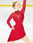Χαμηλού Κόστους Φόρεμα για παγοδρομία-Φόρεμα για φιγούρες πατινάζ Γυναικεία Κοριτσίστικα Patinaj Φούστες Φορέματα Μαύρο Ροζ Γιαν Ουρανί Spandex Ελαστικό Νήμα Ελαστικό Υψηλή Ελαστικότητα Επαγγελματική Ανταγωνισμός Ενδυμασία πατινάζ Στρας