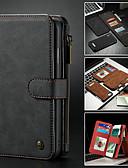 baratos Capinhas para iPhone-Capinha Para Apple iPhone XS / iPhone XR / iPhone XS Max Carteira / Porta-Cartão / Com Suporte Capa Proteção Completa Sólido Rígida PU Leather