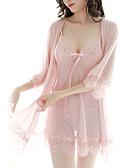 ราคาถูก ร่างกายเซ็กซี่-สำหรับผู้หญิง โบว์ ซูเปอร์เซ็กซี่ เครื่องแบบและกี่เพ้า / ชุด เสื้อนอน สีพื้น สีแดงชมพู ผ้าขนสัตว์สีธรรมชาติ สีม่วง ขนาดเดียว / สาย
