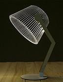 Χαμηλού Κόστους Αντρικές Γραβάτες & Παπιγιόν-λυγισμένο επιτραπέζιο φωτιστικό σύγχρονο ντιζάιν φωτισμός 3d φωτιστικό ξύλινο τραπέζι από ξύλο οδήγησε λάμπα ανάγνωσης με φωτεινή ψευδαίσθηση φωτισμό διακόσμησης