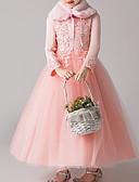 Χαμηλού Κόστους Γαμήλιες Εσάρπες-Παιδιά Κοριτσίστικα Βασικό Μονόχρωμο Μακρυμάνικο Φόρεμα Ρουμπίνι