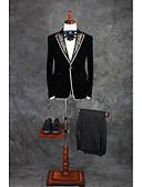 ieftine Costume-Cu model Fit Croit Bumbac / Poliester Costum - Vârf Un singur rând, un nasture / Costume