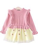 olcso Bébi ruhák-Baba Lány Aktív Egyszínű Hosszú ujj Ruha Arcpír rózsaszín / Kisgyermek