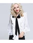 Χαμηλού Κόστους Μπλούζα-Γυναικεία Μπλούζα Μονόχρωμο Λεπτό Λευκό