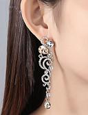 Χαμηλού Κόστους Bomber Jackets-Γυναικεία Διάφανο Cubic Zirconia Σκουλαρίκι Μακρύ Στυλάτο Σκουλαρίκια Κοσμήματα Χρυσό / Ασημί Για Γάμου Πάρτι 1 Pair