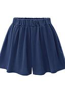 זול מכנסיים לנשים-בגדי ריקוד נשים בסיסי מידות גדולות יומי רגל רחבה / שורטים מכנסיים - אחיד כותנה שחור כחול נייבי XXXXL XXXXXL XXXXXXL