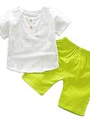 povoljno Majice s kapuljačama i trenirke za dječake-Dijete Dječaci Osnovni Dnevno Print Kratkih rukava Regularna Normalne dužine Pamuk Komplet odjeće Djetelina / Dijete koje je tek prohodalo
