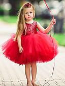 זול שמלות לתינוקות-שמלה ללא שרוולים אחיד פעיל / בסיסי בנות ילדים / פעוטות