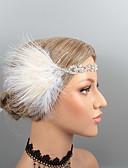 Χαμηλού Κόστους Γαμήλιες Εσάρπες-Βίντατζ 1920s Gatsby Φτερά Κεφαλές / Μαντήλι / Τεμάχια Κεφαλής με Τεχνητό διαμάντι / Κρυσταλλάκια / Φτερό 1 τμχ Γάμου / Πάρτι / Βράδυ Headpiece