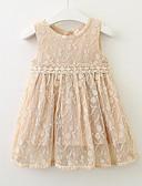Χαμηλού Κόστους Φορέματα για κορίτσια-Νήπιο Κοριτσίστικα Ενεργό Καθημερινά Γεωμετρικό Αμάνικο Ως το Γόνατο Φόρεμα Θαλασσί