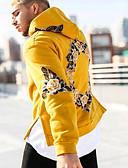 ราคาถูก เสื้อฮู้ดและเสื้อกันหนาว-สำหรับผู้ชาย Street Chic Hoodie รูปเรขาคณิต