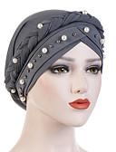 ราคาถูก หมวกสตรี-สำหรับผู้หญิง สีพื้น ฝ้าย เส้นใยสังเคราะห์ กระดุมจั๊ม,วินเทจ ปาร์ตี้ วันหยุด-หมวกปีกกว้าง ทุกฤดู สีเทา สีเหลือง สีน้ำเงินกรมท่า / ผ้า