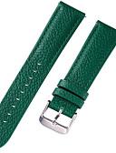Χαμηλού Κόστους Δερμάτινο ρολόι-γνήσιο δέρμα / Δερμάτινο / Τρίχα Μοσχαριού Παρακολουθήστε Band Λουρί για Μπλε / Καφέ / Πράσινο 17 εκατοστά / 6.69 ίντσες / 18 εκατοστά / 7 ίντσες / 19 εκατοστά / 7,48 ίντσες 1cm / 0.39 Ίντσες / 1.2cm