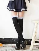 Χαμηλού Κόστους Κάλτσες & Καλσόν-Maid Suits Στολές Ηρώων Γυναικεία Ενηλίκων Princess Lolita Καλσόν Girly Κάλτσες & Καλτσόν Maid Suits Κάλτσες Μέχρι τους Μηρούς Λευκό Μαύρο Ροζ Γάτα Βαμβάκι Αξεσουάρ Lolita / Υψηλή Ελαστικότητα
