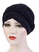 ราคาถูก หมวกสตรี-สำหรับผู้หญิง สีพื้น ฝ้าย เส้นใยสังเคราะห์ ลูกปัด,วินเทจ ปาร์ตี้ วันหยุด-หมวกปีกกว้าง ทุกฤดู สีเทา สีเหลือง สีน้ำเงินกรมท่า / ผ้า