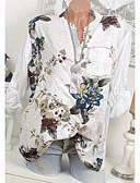 billige Skjorter til damer-Store størrelser Skjorte Dame - Geometrisk, Paljetter / Glimmer Grunnleggende Svart / Vår / Sommer / Høst / Vinter