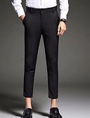 ราคาถูก กางเกงผู้ชาย-สำหรับผู้ชาย พื้นฐาน ทุกวัน สูท กางเกง - สีพื้น สีน้ำเงิน สีดำ 33 28 34