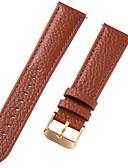 זול רצועת שעונים-עור אמיתי / עור / Calf Hair צפו בנד רצועה ל חום 20cm / 7.9 אינצ'ים 1cm / 0.39 אינצ'ים / 1.2cm / 0.47 אינצ'ים / 1.3cm / 0.5 אינצ'ים