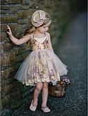 povoljno Haljinice za bebe-Djeca Djevojčice Osnovni Na točkice Bez rukávů Haljina žuta / Pamuk