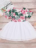 זול שמלות לתינוקות-שמלה כותנה שרוולים קצרים פרחוני פעיל / בסיסי בנות תִינוֹק / פעוטות