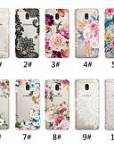 ราคาถูก เคสสำหรับโทรศัพท์มือถือ-Case สำหรับ Samsung Galaxy J7 (2017) / J6 (2018) / J6 Plus Transparent / Pattern ปกหลัง พิมพ์ลูกไม้ / ดอกไม้ Soft TPU