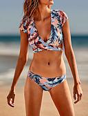ราคาถูก ชุดว่ายน้ำบิกินี่และ-ปกติ เส้นใยสังเคราะห์ ชุดว่ายน้ำ & บิกินี่ สัมผัสแห่งความรู้สึก ลายดอกไม้ สวมใส่ทุกวัน ปมผ้า