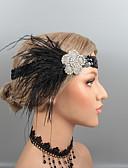 זול ז'קטים-נוצות רצועות / אביזר לשיער עם ריינסטון / קריסטל / נוצות יחידה 1 חתונה / מסיבה\אירוע ערב כיסוי ראש