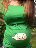 billige Toppe-Mammaklær T-skjorte Dame - Tegneserie, Trykt mønster Vin