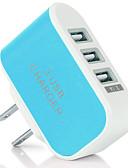 billige Hurtigladere-Bærbar lader / Trådløs Lader USB-lader Us Plugg Normal 3 USB-porter 2 A DC 5V til