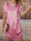 povoljno Haljine za NG-Žene Party Osnovni Majica Haljina Color block Iznad koljena / Sexy