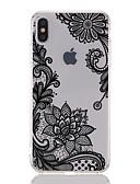 povoljno iPhone maske-Θήκη Za Apple iPhone XS / iPhone XR / iPhone XS Max Prozirno / Uzorak Stražnja maska Čipka Ispis / Cvijet Mekano TPU