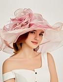 ราคาถูก หมวกสตรี-ผ้าไหมแก้ว Kentucky Derby Hat / fascinators / เครื่องสวมศรีษะ กับ ชั้น 1 ชิ้น งานปาร์ตี้ / งานราตรี / ธุรกิจ / พิธี / แต่งงาน หูฟัง