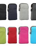billige Smartwatch Case-Etui Til Blackberry / Apple / Samsung Galaxy Universell Sportarmbånd / Kortholder Lomme Ensfarget Myk Nylon