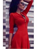 Χαμηλού Κόστους Μίνι Φορέματα-Γυναικεία Πάρτι Λεπτό Θήκη Φόρεμα Πάνω από το Γόνατο Βαθύ V / Sexy