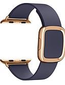 baratos Bandas de Smartwatch-Pulseiras de Relógio para Apple Watch Series 5/4/3/2/1 / Apple Watch Series 4 Apple Fecho Moderno Couro Legitimo Tira de Pulso