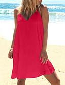 baratos Vestidos de Mulher-Mulheres Delgado balanço Camisa Vestido Decote V Altura dos Joelhos