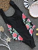 Χαμηλού Κόστους One-piece swimsuits-Γυναικεία Αθλητικό Βασικό Μαύρο Triunghi Προκλητικό Ένα κομμάτι Μαγιό - Φλοράλ Συνδυασμός Χρωμάτων Εξώπλατο Τ M L Μαύρο